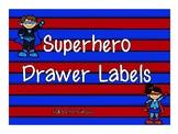 Superhero Drawer Labels