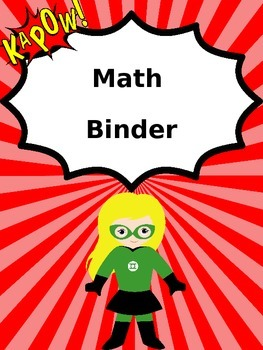 Binder Covers: Superhero EDITABLE