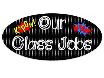 Superhero EDITABLE Classroom Jobs
