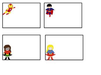 Superhero EDITABLE Classroom Labels