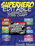 Superhero EDITABLE Jobs Chart