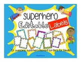 Superhero EDITABLE Labels