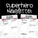 Superhero {EDITABLE} Newsletter