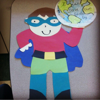 Superhero Earth Day Craftivity