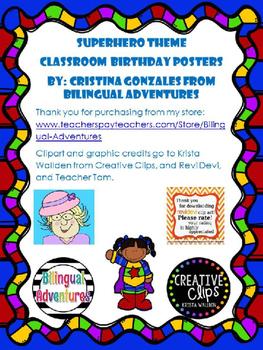 Superhero Editable Birthday Poster