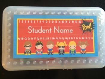 Superhero Editable Name Tags (Pencil Boxed Sized!)