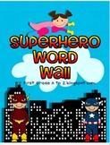 Superhero Editable Word Wall