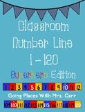 Superhero Theme Classroom Number Line