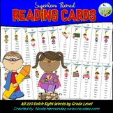 Dolch Sight Word Reading Strips (Superhero Themed)
