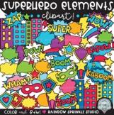 Superhero Elements Clipart MEGA Set!