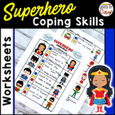 Coping Skills Self Regulation Worksheets - Superhero Themed