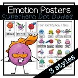 Superhero Emotions Posters