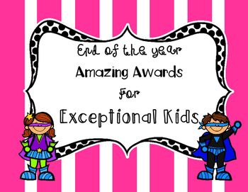 Superhero End of Year Class Awards