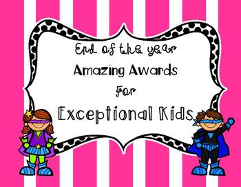Superhero End of Year Class Awards
