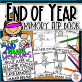 End of Year Memory Book 2nd Grade - A Superhero writing and craft flip book