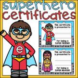 Superhero Awards End of the Year Certificates Super Hero