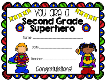 Superhero End of the Year Certificate
