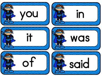 Superhero English Sight Words