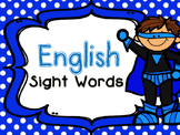 Superhero English Sight Words