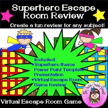 Superhero Escape Room Review Virtual Breakout Game & Slideshow template