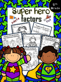 Superhero Factors (cut and paste math worksheets)