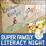 Superhero Family Literacy Night, editable!