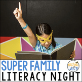 Superhero Family Literacy Night, editable!