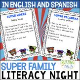 Superhero Family Literacy Night in English and Spanish - T