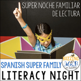 Superhero Family Literacy Night in Spanish, editable!