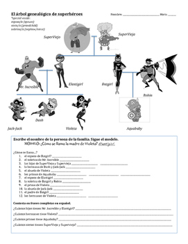Superhero Family Tree (Spanish)