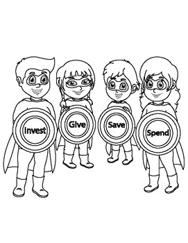 Superhero Family coloring page