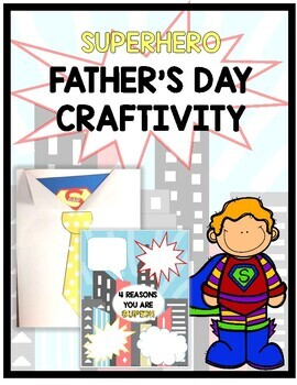 Superhero Father's Day Card- Writing Craftivity