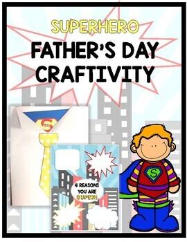 Superhero Father's Day Card- Writing Craftivity