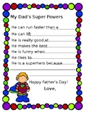 Father's Day Superhero Worksheet