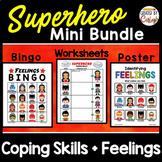 Feelings and Coping Skills Counseling Bundle - Superhero