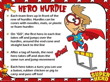 Superhero Field Day- 36 Superhero-Themed Field Day Event Cards