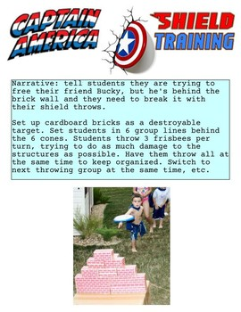 PE Superhero Field Day activity ideas packet