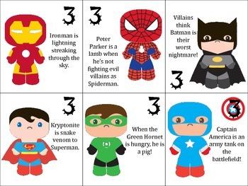 Superhero Figurative Language Board Game