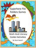 Superhero Activities, File Folder Games for Special Education Math Center
