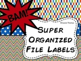 Superhero File Labels {Editable}