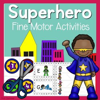 Superhero Fine Motor Activities