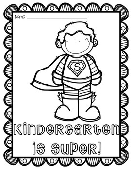 Superhero First Day of School Coloring Activity