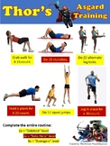 Superhero Fitness Sheets - self-guided activity for PE - E