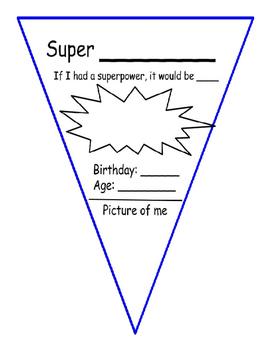 Superhero Flag - Get to Know Me
