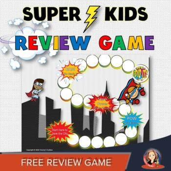 Superhero Flash Card Review Game for Any Subject