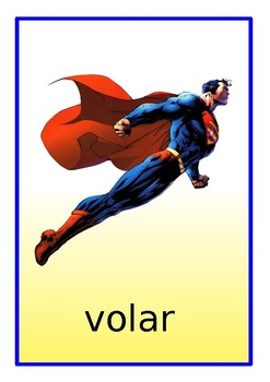 Superhero Flashcards in Spanish - Powers and Abilities