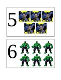 Superhero Flashcards (numbers 1-10)