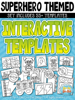 Superhero Flippable Interactive Templates {Zip-A-Dee-Doo-Dah Designs}