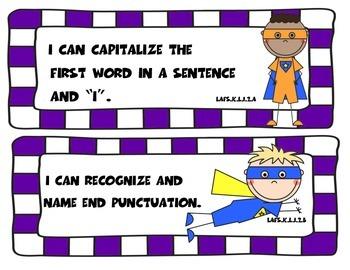 Superhero Florida Language I Can Statements