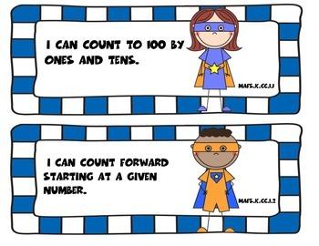 Superhero Florida Math I Can Statements